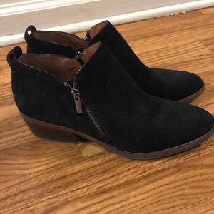 Lucky Brand Faunia Black Booties